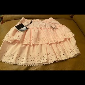 NWT Girls Burberry Soft Pink Ruffle Skirt Size 2Y